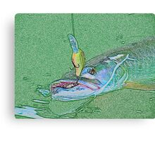 Muskie Madness Art Canvas Print