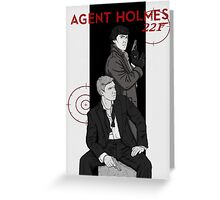 Agent Holmes  Greeting Card