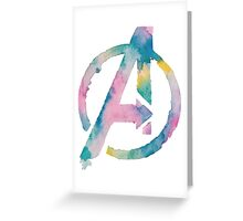 Watercolor Avengers (white)  Greeting Card