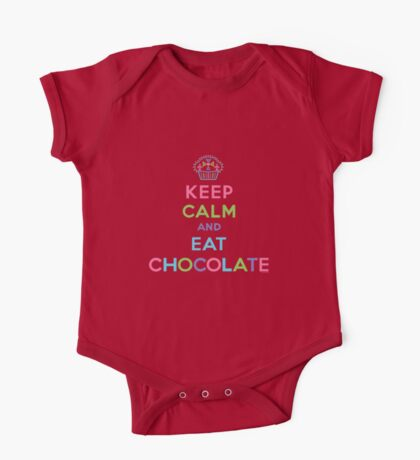 Keep Calm and Eat Chocolate - brown Kids Clothes