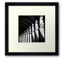 All is black and white Framed Print