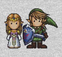 Link & Zelda Pixelart Kids Clothes
