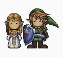 Link & Zelda Pixelart Kids Tee
