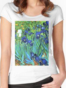 Van Gogh HDR Garden Irises Women's Fitted Scoop T-Shirt
