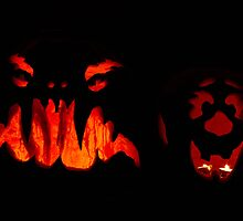 Pumpkins - Scary and Clown faces by Andrew Seymour
