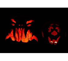 Pumpkins - Scary and Clown faces Photographic Print