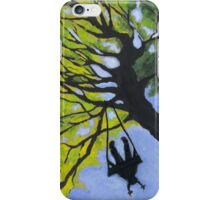 Girl on a Tree Swing iPhone Case/Skin