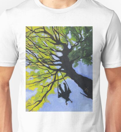 Girl on a Tree Swing Unisex T-Shirt