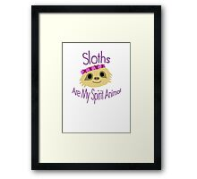 Sloth Design Framed Print