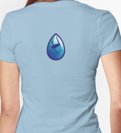 Cracked Lapis, detailed - Steven Universe Womens Fitted T-Shirt
