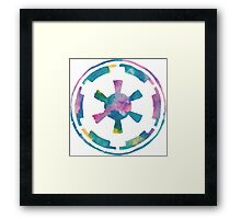 Watercolor Galactic Empire (white) Framed Print