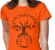 Tree of Peace Womens Fitted T-Shirt