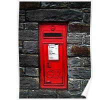 Georgian postbox, Clevedon, Somerset, UK Poster