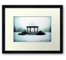 Winter Band Stand - Leighton Buzzard Framed Print