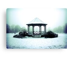 Winter Band Stand - Leighton Buzzard Canvas Print