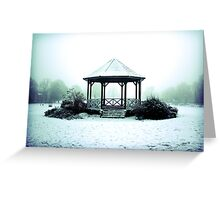 Winter Band Stand - Leighton Buzzard Greeting Card