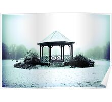 Winter Band Stand - Leighton Buzzard Poster