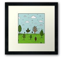 Leaves and Trees Framed Print