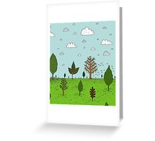 Leaves and Trees Greeting Card