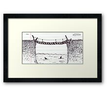 Sharks in the Water - Conference Doodles Framed Print