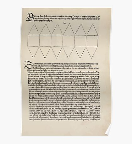 Measurement With Compass Line Leveling Albrecht Dürer or Durer 1525 0157 Repeating and Folding Shapes Poster