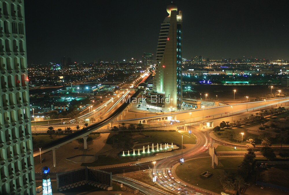 Dubai by night by Mark Bird