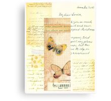 Shabby Cute with Butterflies Canvas Print