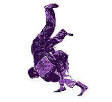 Judo Throw in Gi Purple  Photographic Print