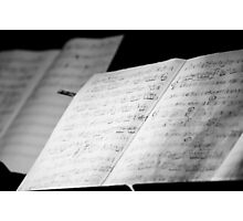 Jazz Notes Photographic Print