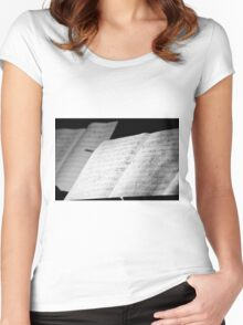 Jazz Notes Women's Fitted Scoop T-Shirt
