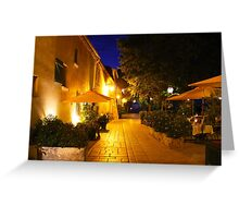 Gassin by Night on the French Riviera Greeting Card