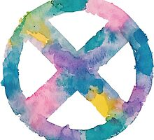 Watercolor X-Men (white)  by PeonyPaints