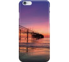 Totland Pier Caught In The Afterglow iPhone Case/Skin