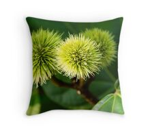 Naturally spikey Throw Pillow