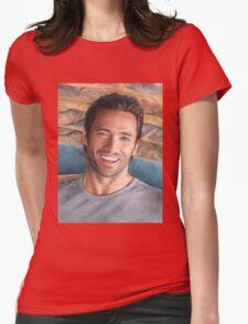 Hugh Jackman Art Womens Fitted T-Shirt