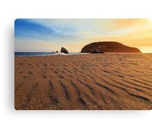 Sunset On The Sands Of Brookings Canvas Print