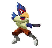 Pixel Falco Lombardi Star Fox Melee by niymi