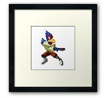 Pixel Falco Lombardi Star Fox Melee Framed Print