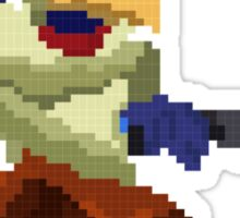 Pixel Falco Lombardi Star Fox Melee Sticker