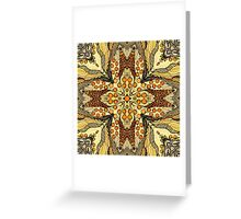 Abstract kaleidoscope patern with apple Greeting Card