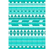 Mint Aztec  Photographic Print
