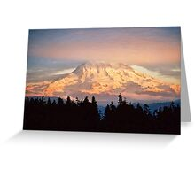 Sunset on the Mountain Greeting Card
