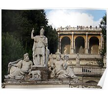Statue of Asclepius at Pincio Hill, Rome  Poster