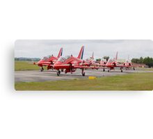 Red Arrows Panoramic Canvas Print