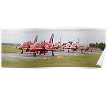 Red Arrows Panoramic Poster