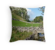 Kilnsey Crag At Last! Straight From The Camera!! Throw Pillow