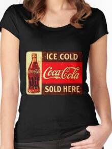Cocacola Vintage Women's Fitted Scoop T-Shirt
