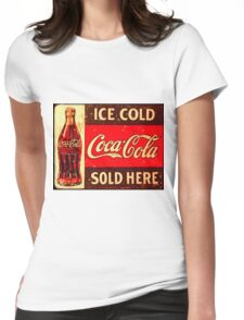Cocacola Vintage Womens Fitted T-Shirt