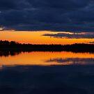 Sun setting. by Janne Keinänen