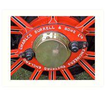 Steam Engine Wheel Art Print